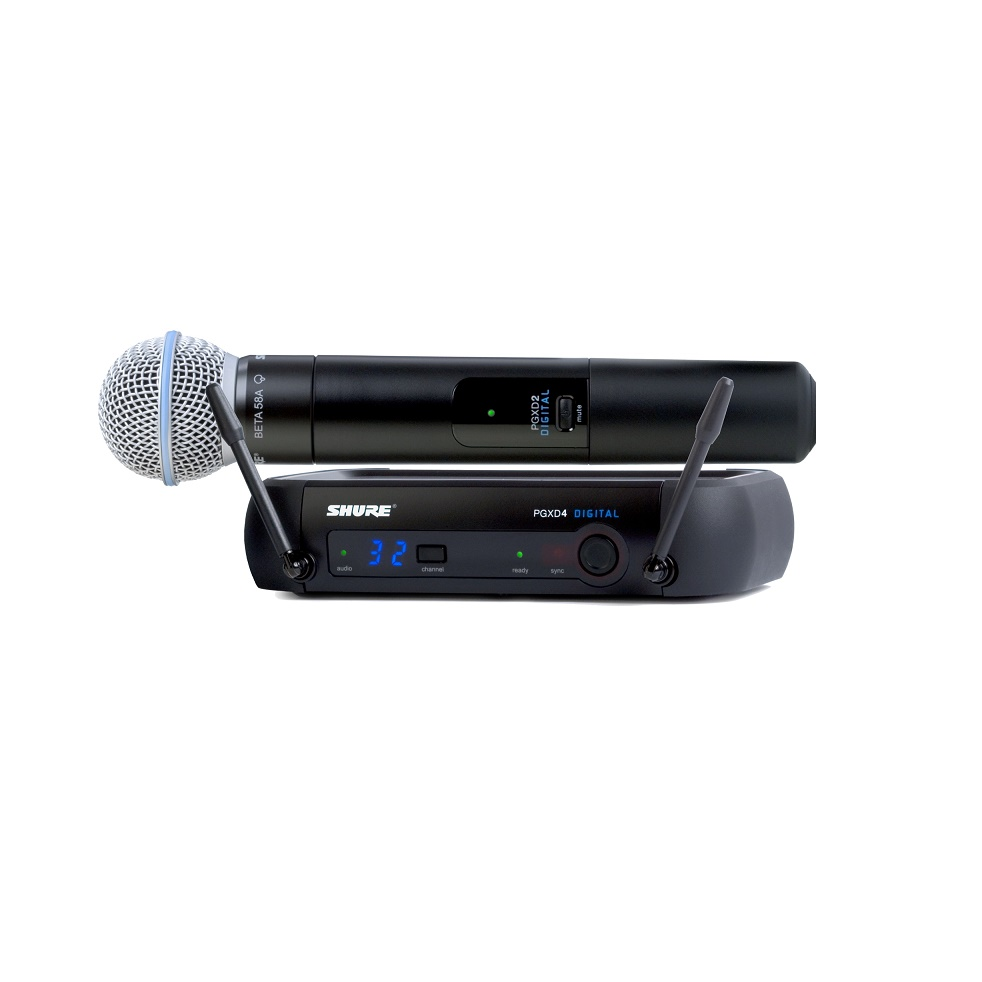 Shure Pgxd24 Beta58 Digital Wireless System With Beta 58a Microphone
