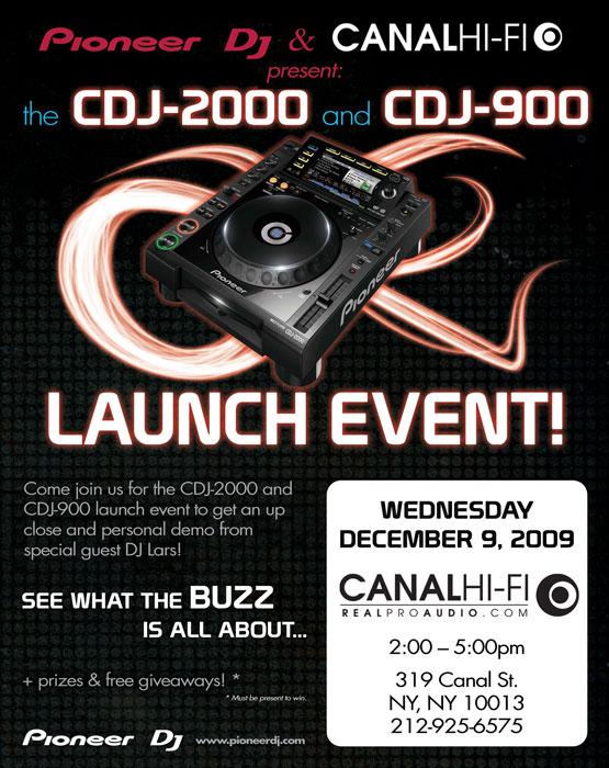 Pioneer CDJ Launch
