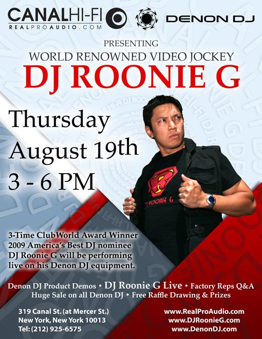 Denon DJ Roonie G Live