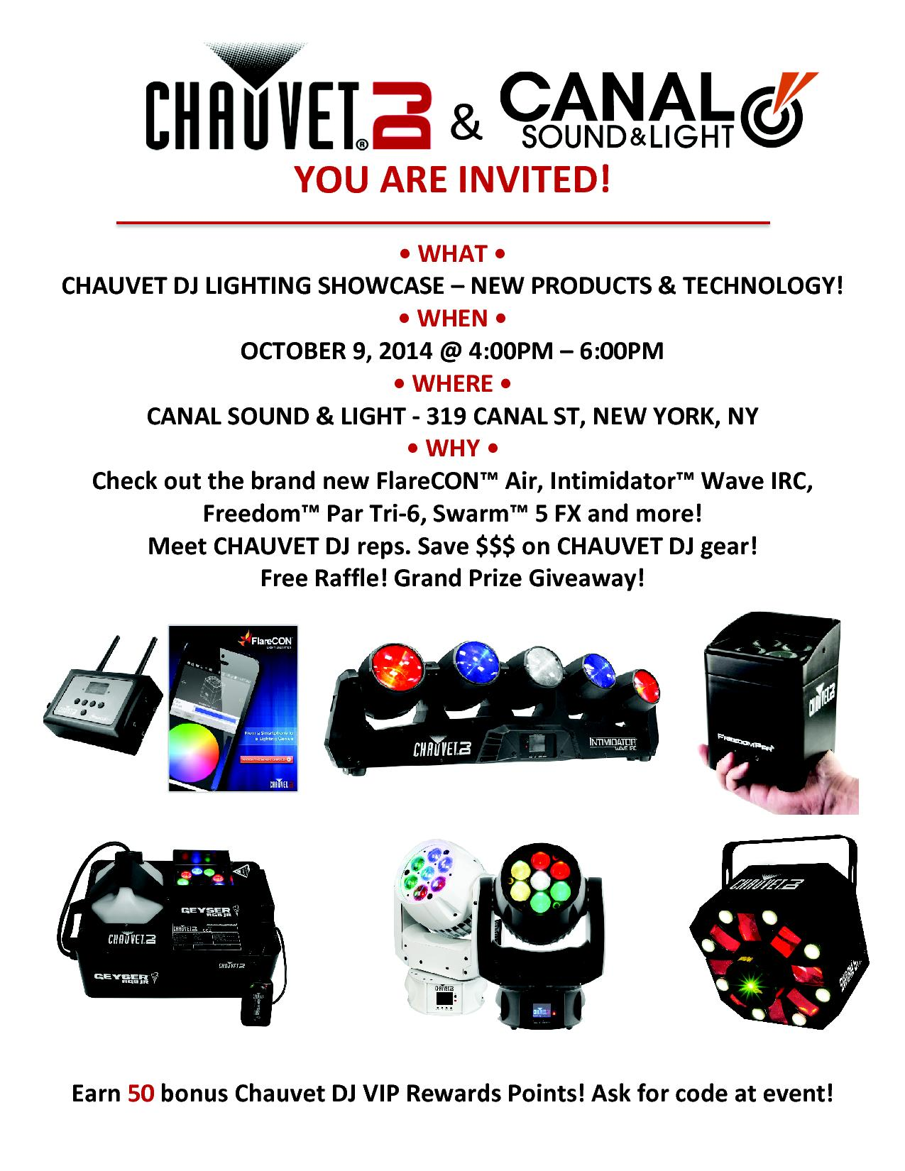 Chauvet DJ LIGHTING Showcase - New Products & Technology!!