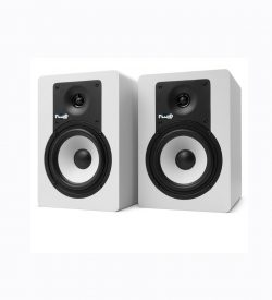 Fluid Audio C5 Amplified Studio Monitors, White (Pair)