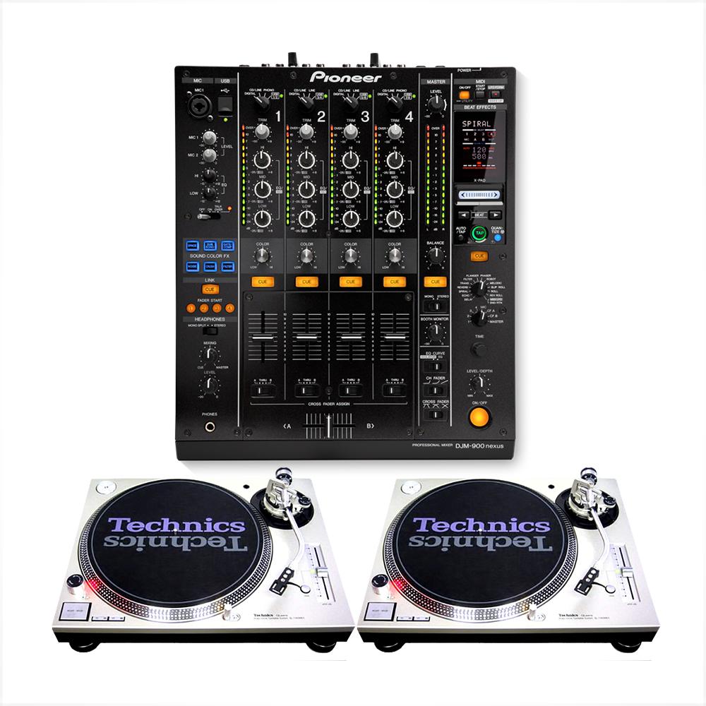 pioneer djm 900nxs2 sl 1200mk2 rental professional dj set