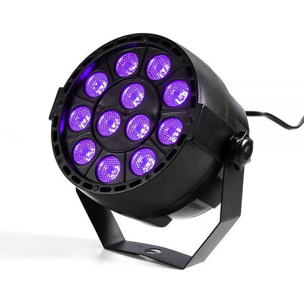 Eliminator Lighting Mini Par Uv Led 12 X 1 Watt S