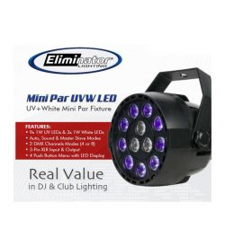 Eliminator Lighting Mini Par UVW LED