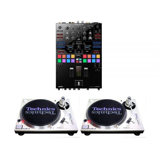 pioneer dj djm s9 technics sl1200 mk2 pair rental professional 2